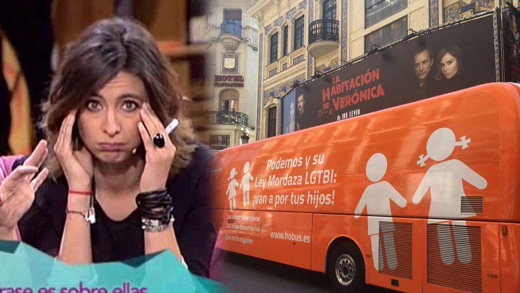 Sandra Barneda, estalla contra el bus de 'Hazteoir': ¿En serio? ¿No se había prohibido?