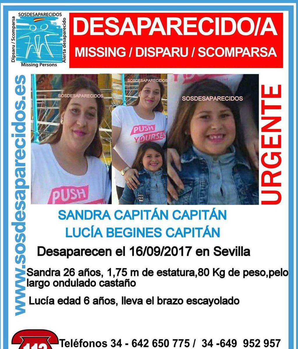 Denuncian en Sevilla la desaparición de una joven de 26 años y su hija menor de edad