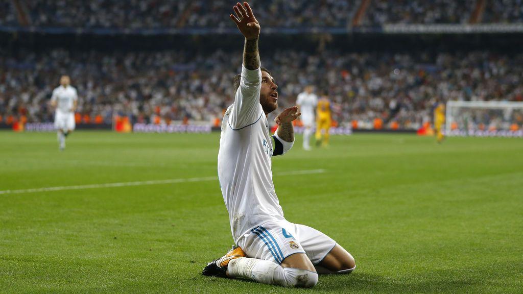 """""""¿Pájaro que vuela...? ¡A la cazuela!"""" El golazo de Sergio Ramos en el entrenamiento del Madrid"""