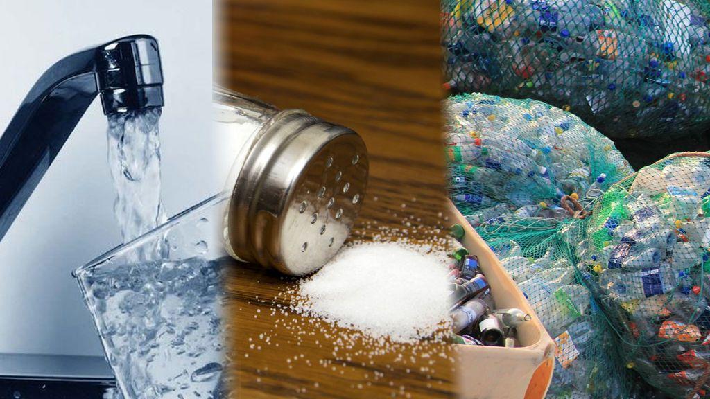 Los ingieres aunque no quieras: los microplásticos del mar llegan al agua del grifo y a la sal