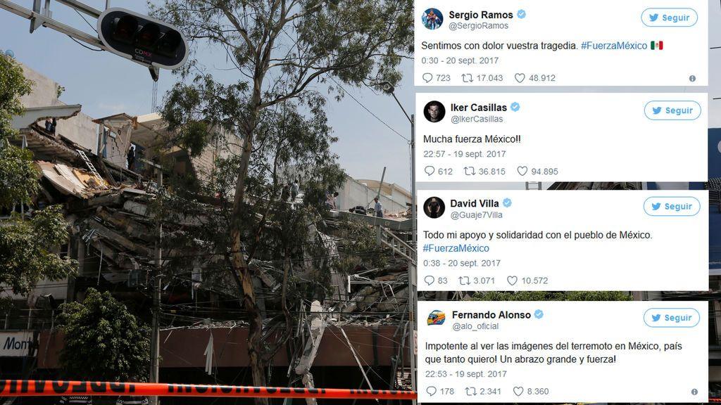 El mundo del deporte se une para mandar fuerzas a México tras un brutal terremoto