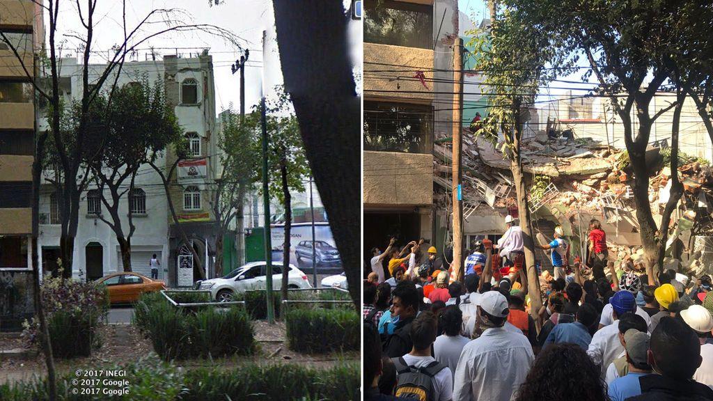 Terremoto en México: las fotos del antes y el después