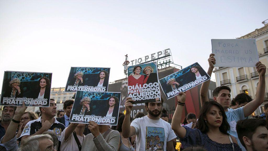 Concentraciones varias ciudades de España para pedir el voto en Cataluña