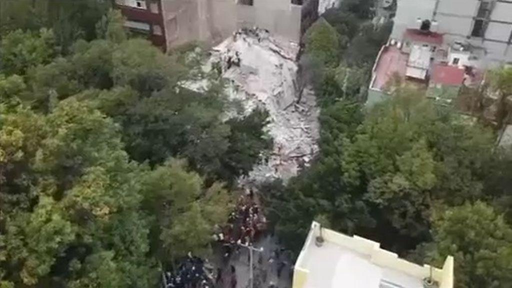 Medio centenar de edificios se han derrumbado por la fuerza del terremoto de México
