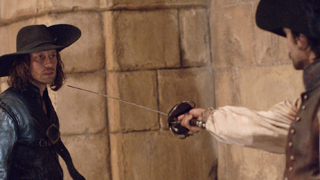 Malatesta (Filippo Sbalchiero) y Alatriste (Aitor Luna)