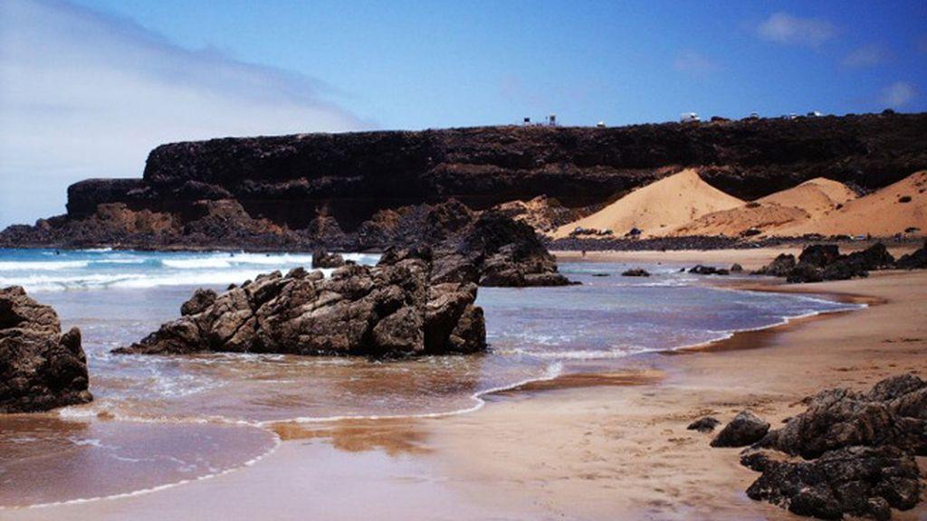 Daida Ramírez Lagoa: playa Esquinzo, en Cotillo (Fuerteventura)