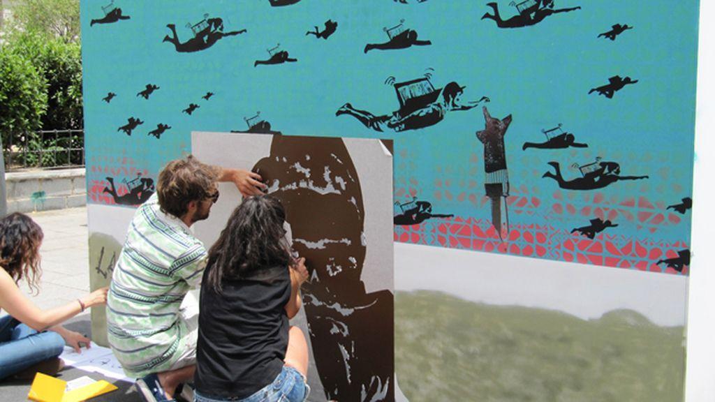 El mural colaborativo de 2 Spread sobre 'Educación'