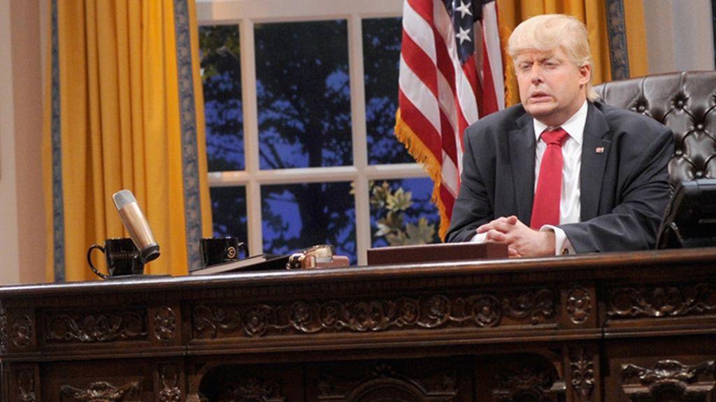"""Donald Trump, con """"los mejores invitados y las mujeres más bellas"""" en Comedy Central"""