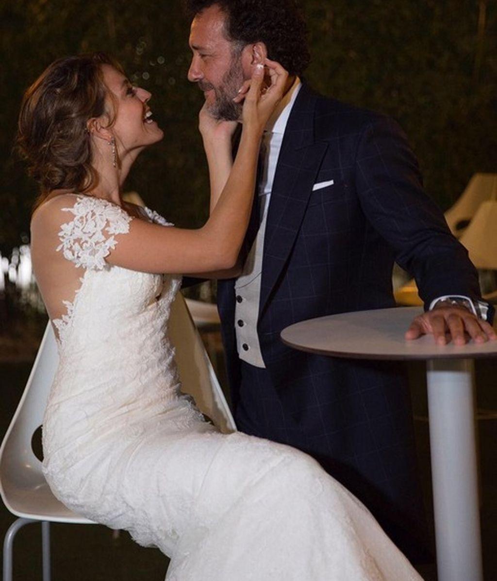 Imagen de la boda entre los actores José Luis García Pérez y Cristina Alarcón