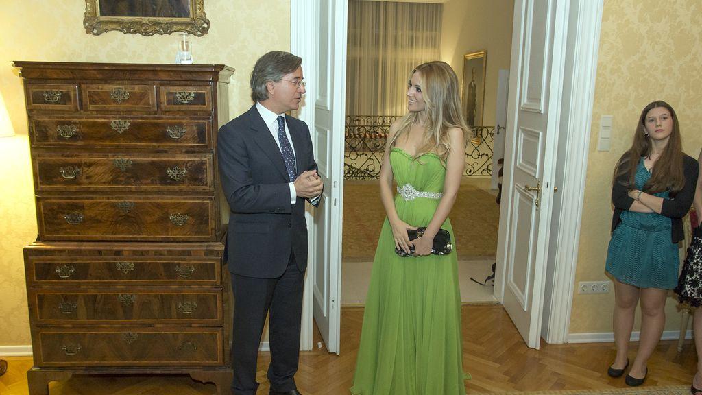 En la residencia del embajador, el miércoles