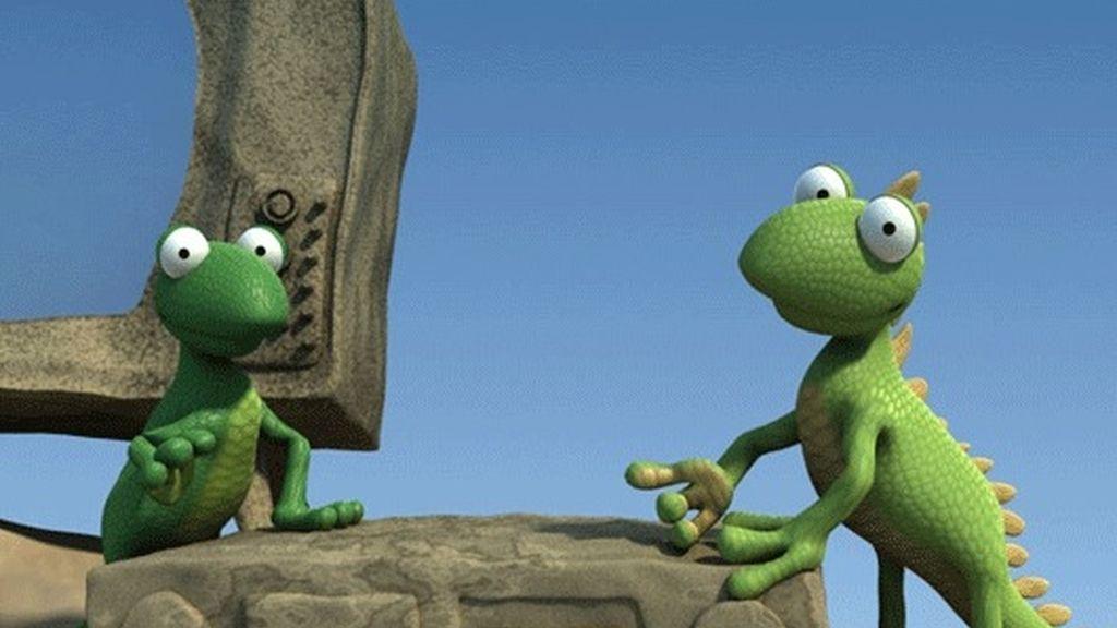 Divertidos personajes en 3-D y una combinación de imagen real y animación