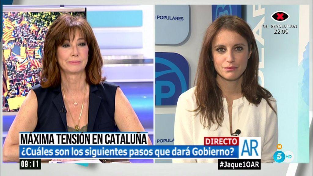 """Andrea Levy: """"Que las fiestas de los independentistas las pague Junqueras de su bolsillo"""""""