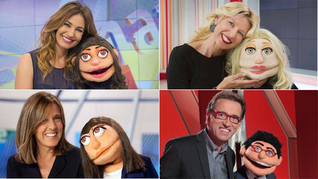 Las marionetas comparten 'sketches' con sus clones, de Mariló Montero a Jordi Hurtado