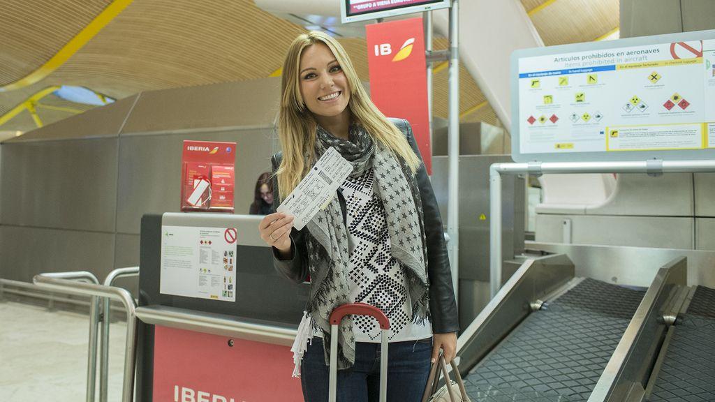 En Barajas, lista para partir a la capital austriaca, 'casual'
