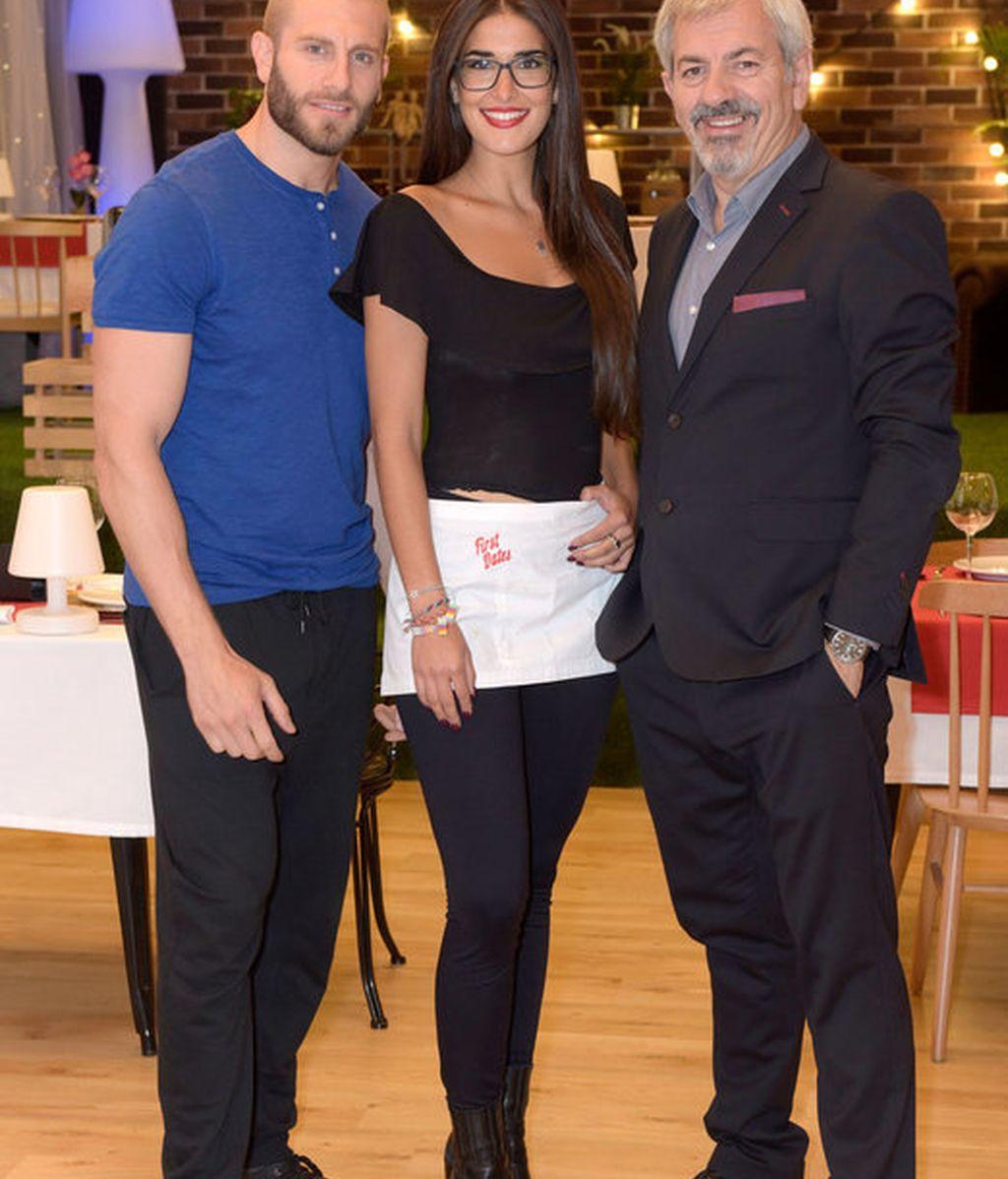 Matías, Lidia y Carlos Lozano, 'First Dates', Cuatro