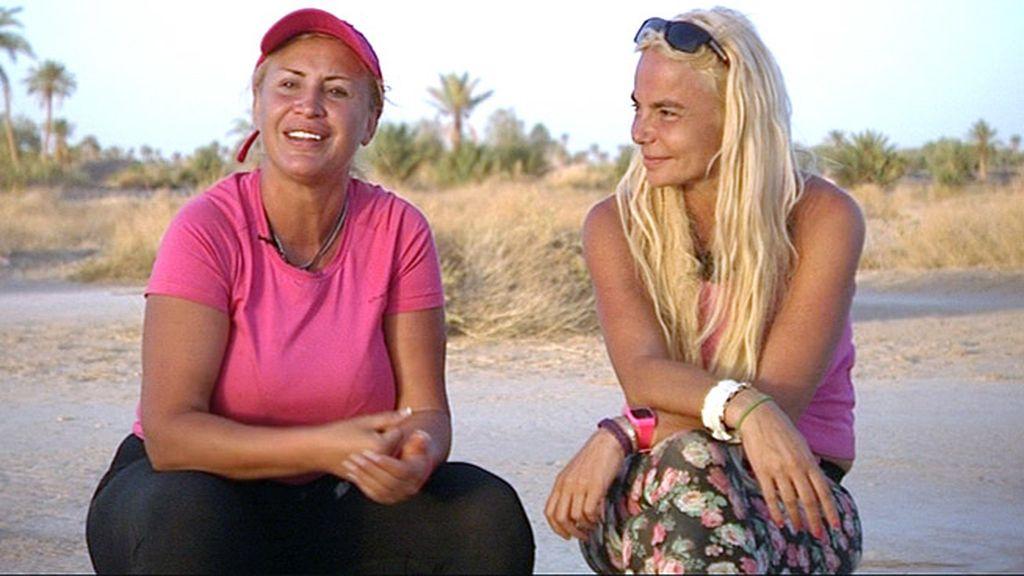 Equipo fucsia. Leticia Sabater, presentadora de televisión, y Raquel Mosquera, empresaria