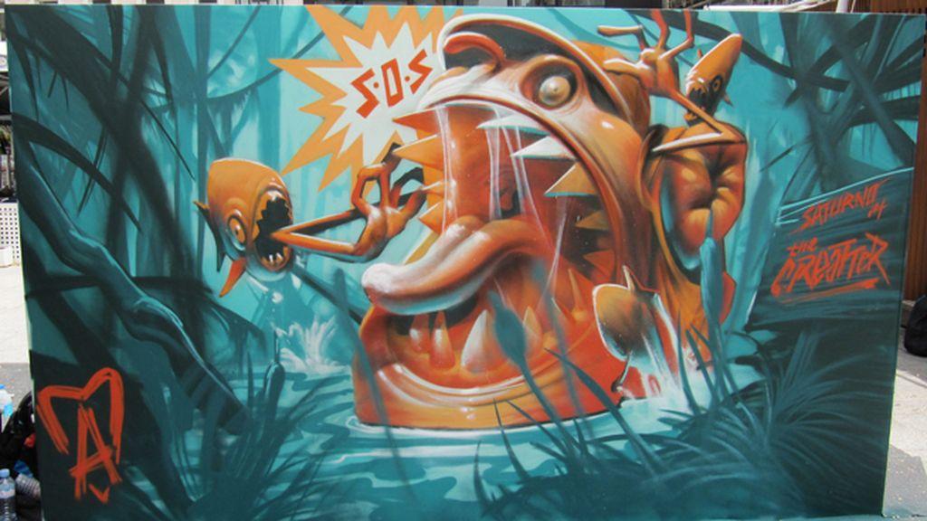 El mural de Saturno sobre 'Emergencias'