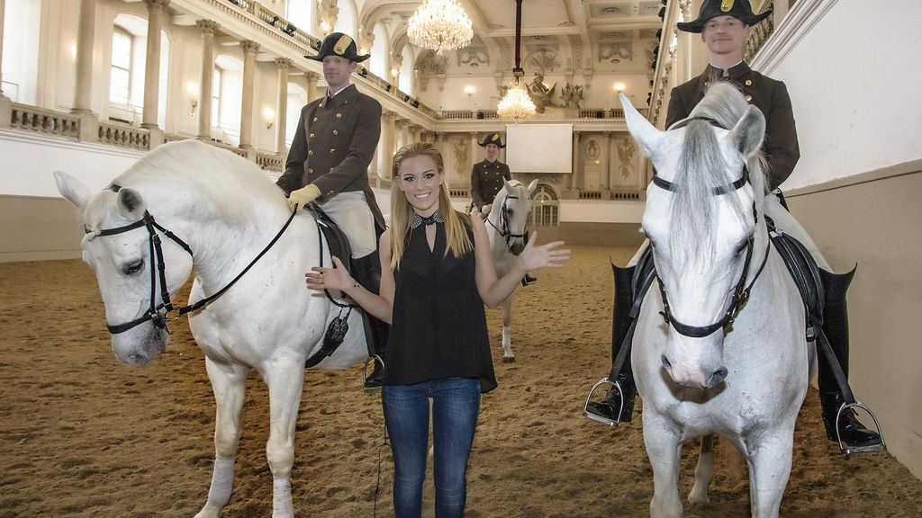 De visita en la Escuela Española de Equitación en el centro de Viena