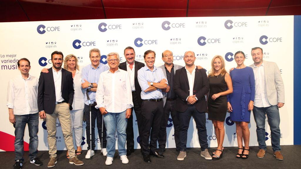 El equipo de la Cadena COPE en la presentación de la temporada 2017/2018