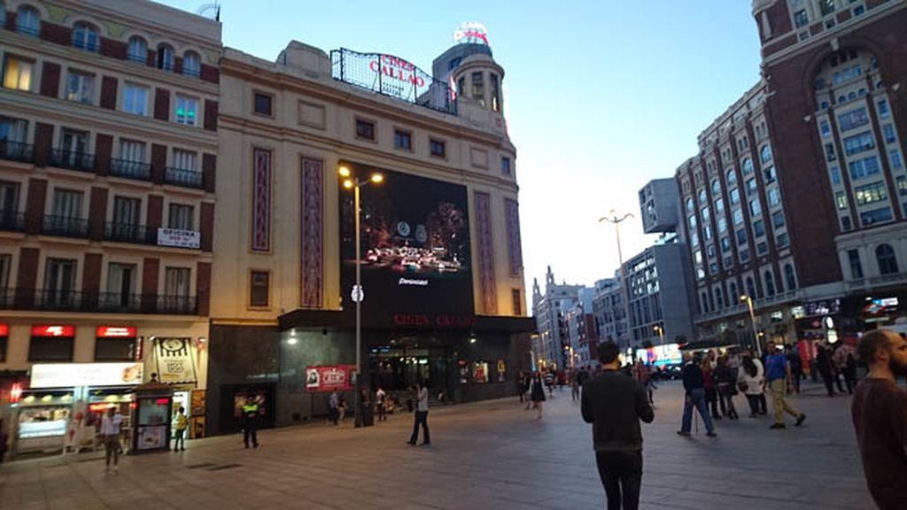 Los cines Callao, Capitol y Palacio de la Prensa emiten el spot en su pantalla externa
