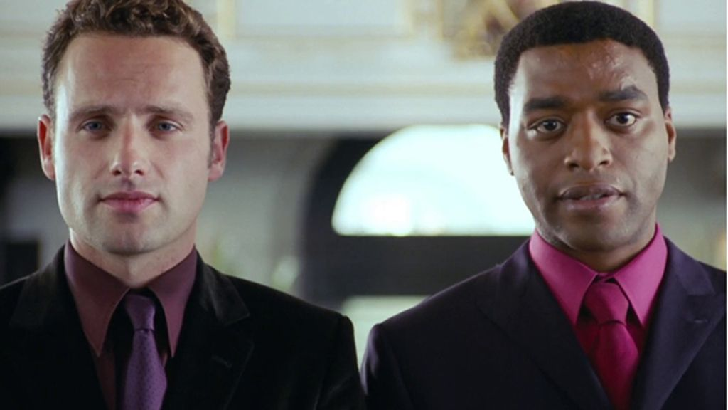 Andrew Lincoln (Mark) y Chiwetel Ejiofor (Peter)