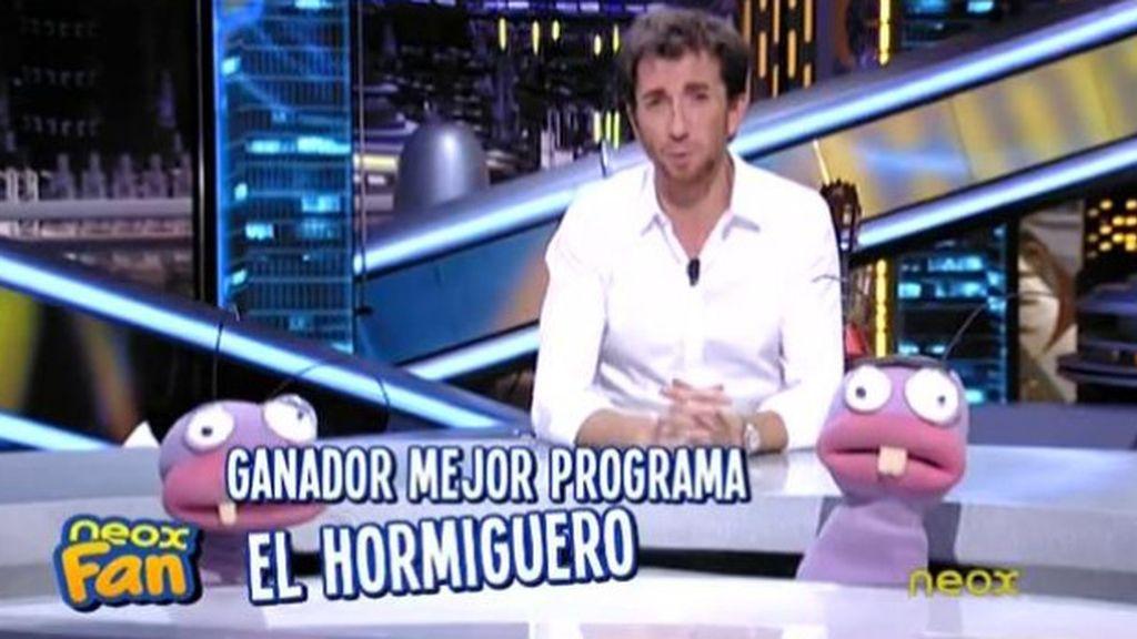 'El hormiguero', de Antena 3, mejor programa de televisión