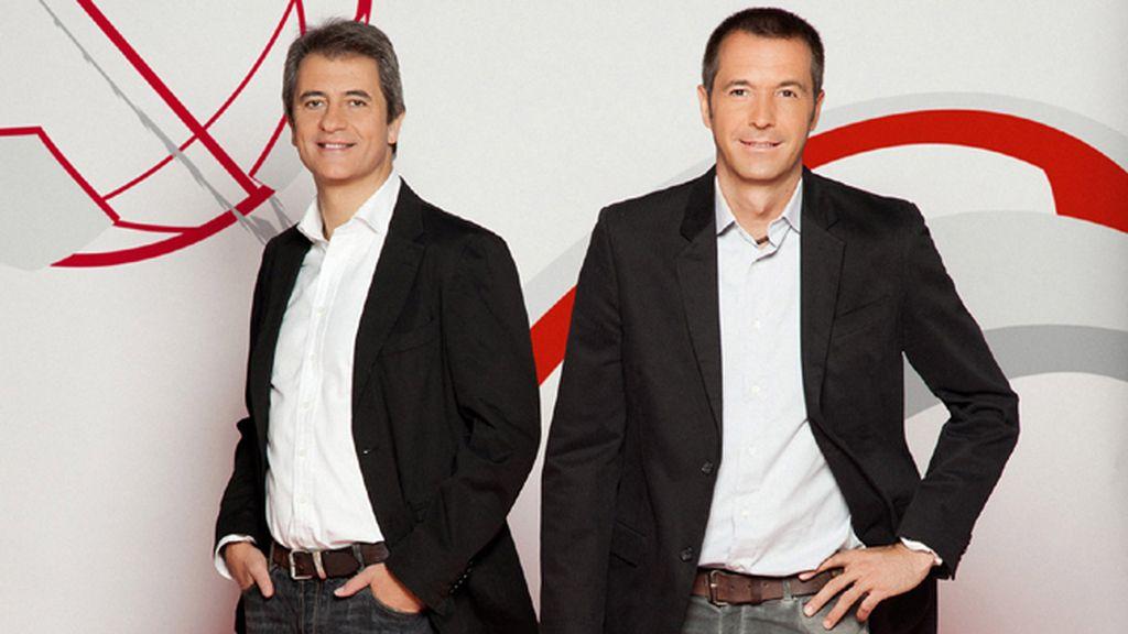 Manolo Lama y Manu Carreño, 'Los manolos', en 'Deportes Cuatro mediodía'
