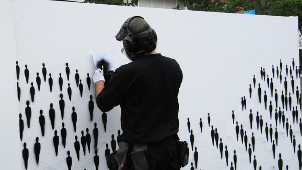 El mural de SUSO33 sobre 'Exclusión social y discapacidad'