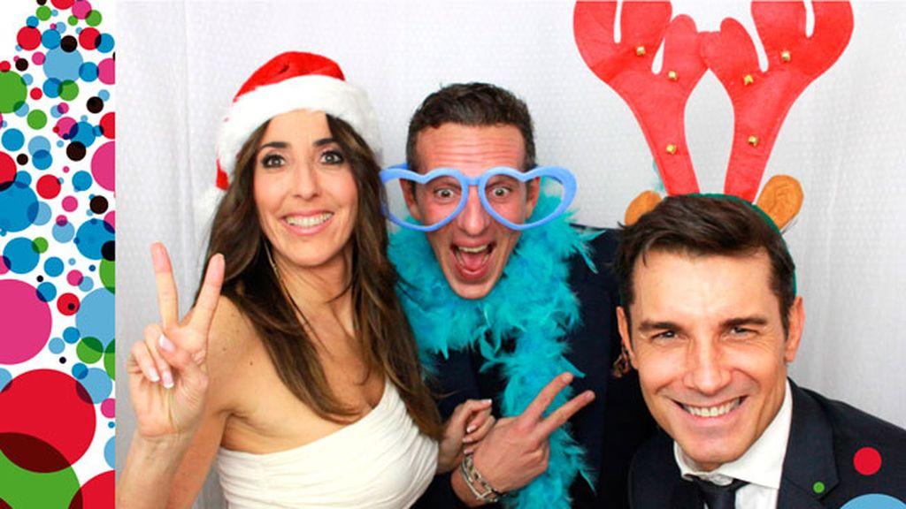 La felicitación navideña de Paz Padilla, Joaquín Prat y Jesús Vázquez
