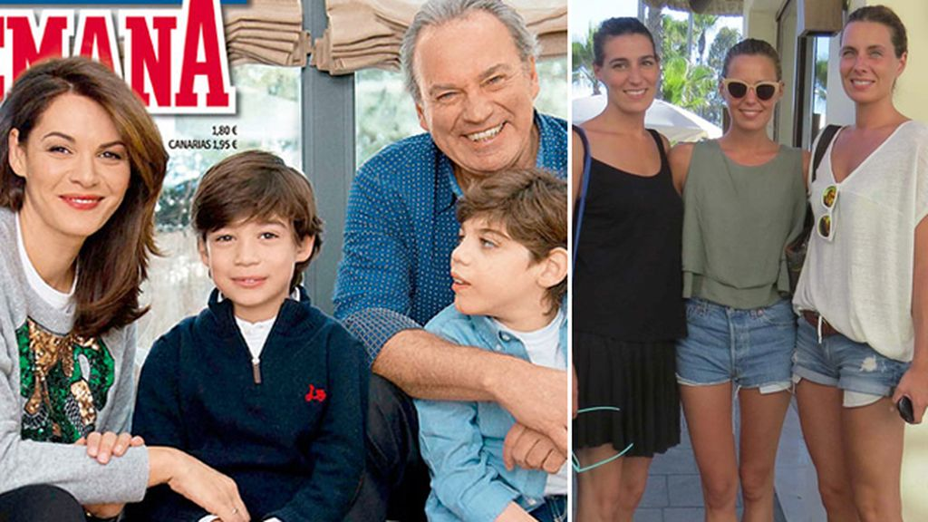 Bertín Osborne: Alejandra (37 años), Eugenia (30 años), Claudia (26 años), Norberto (9 años) y Carlos (8 años)