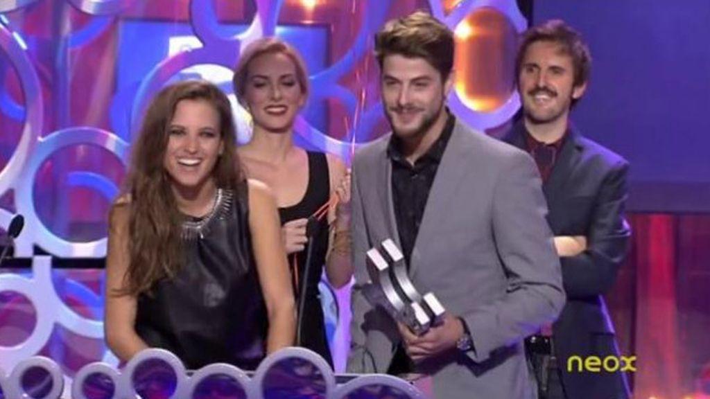 Luis Fernández y Ana Fernández ('Los protegidos', Antena 3), mejor beso