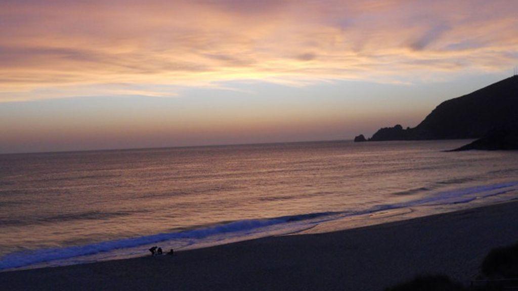 Juanito Persanz: playa de Poniente, en Finisterre (Galicia).
