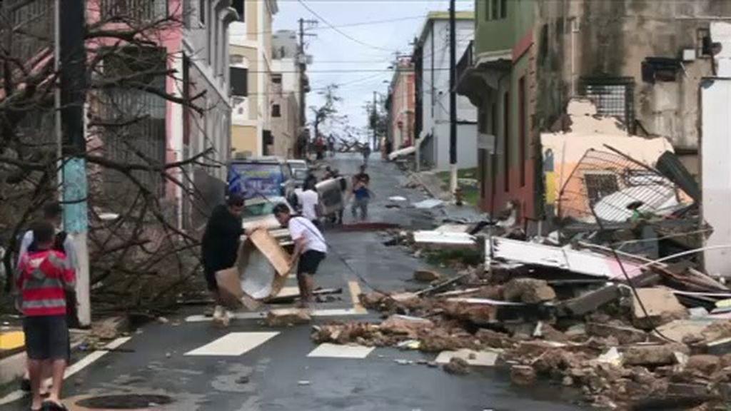 Devastación en Puerto Rico tras la llegada del huracán María