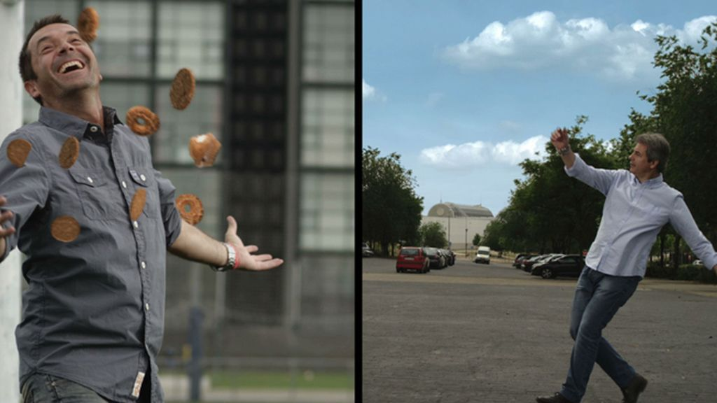 Carreño y Lama transforman los balones en comida