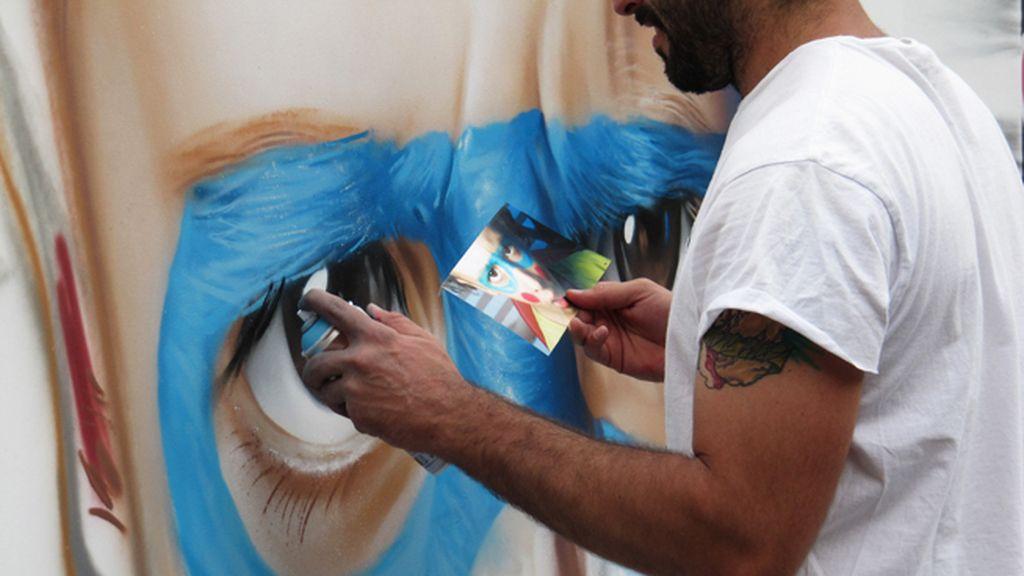 El mural de Belin sobre 'Infancia'