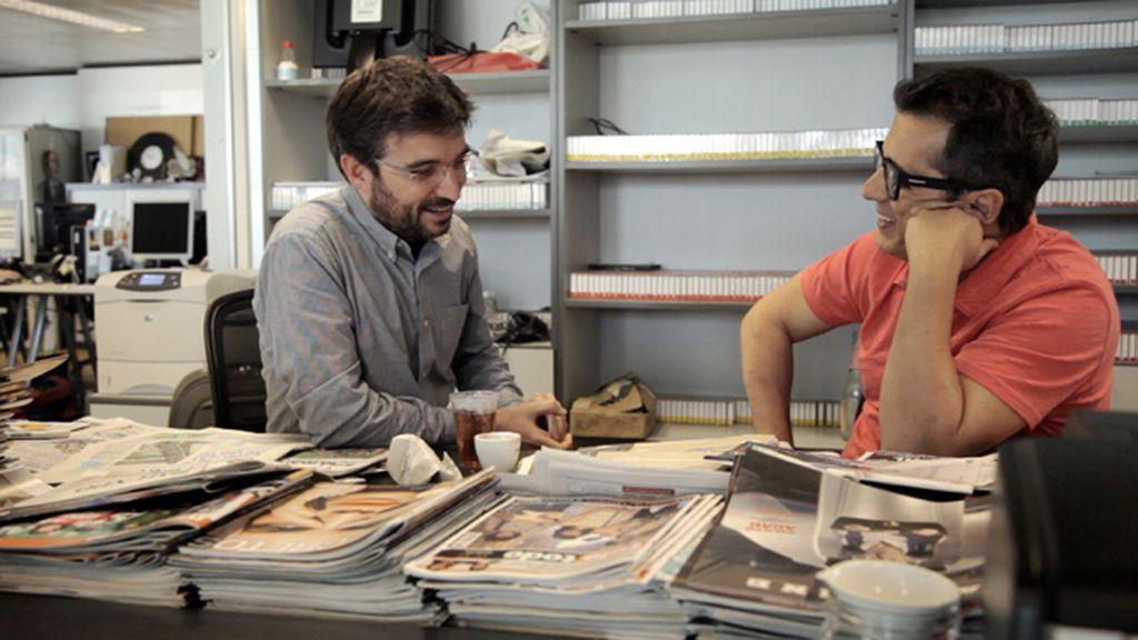 Andreu Buenafuente con Jordi Évole