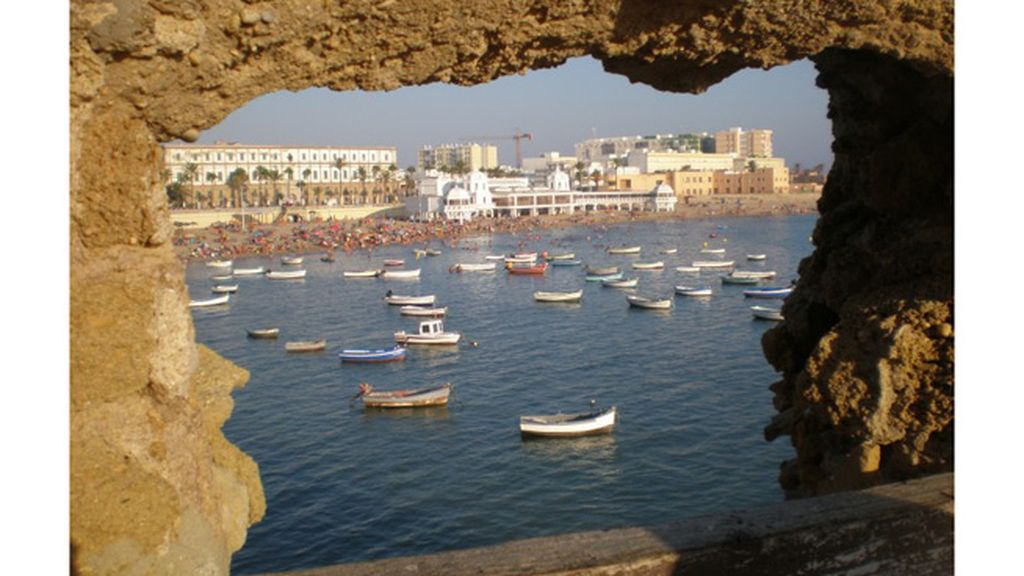 Ángeles Reyes: playa de La Caleta, en Cádiz.