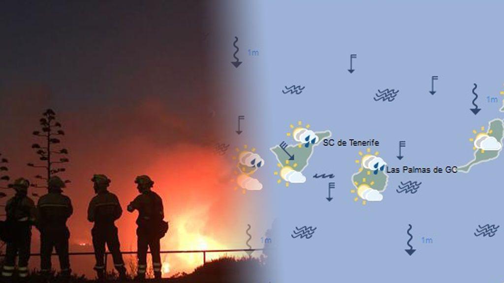 Buenas noticias: el tiempo va a favorecer la extinción del incendio de Tejeda