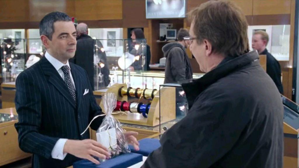 Rowan Atkinson (Rufus) y Alan Rickman (Harry)