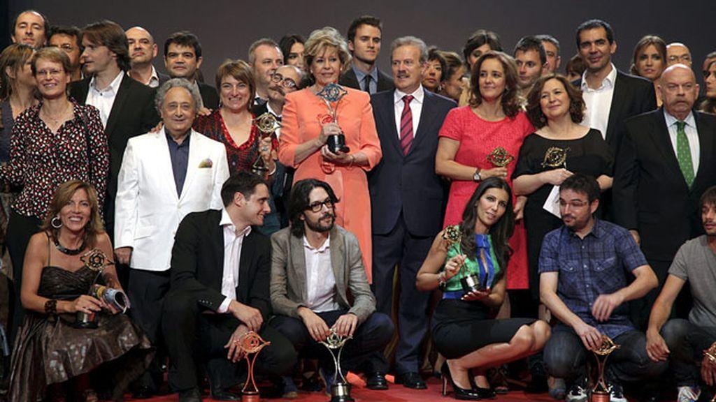 La cadena pública vuelve a copar el palmarés de los galardones de la Academia de la Televisión