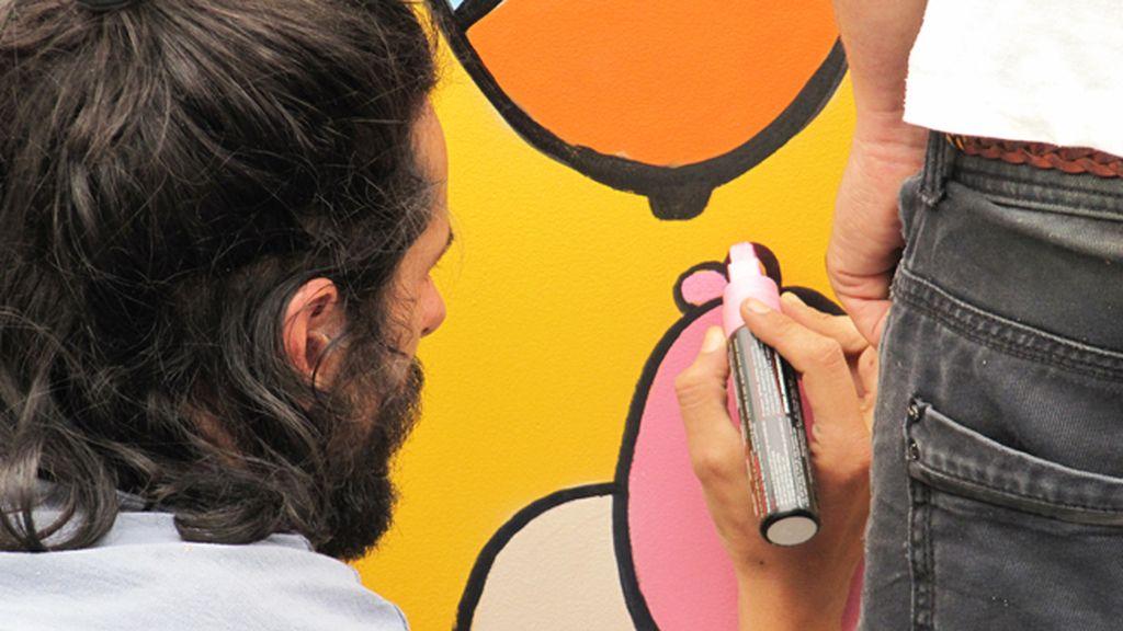 El mural de Fratelli Moca sobre 'Hambre y pobreza'