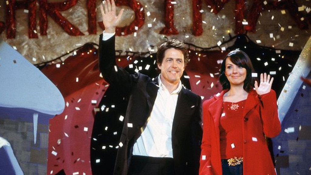 Hugh Grant (David) y Martine McCutcheon (Natalie)