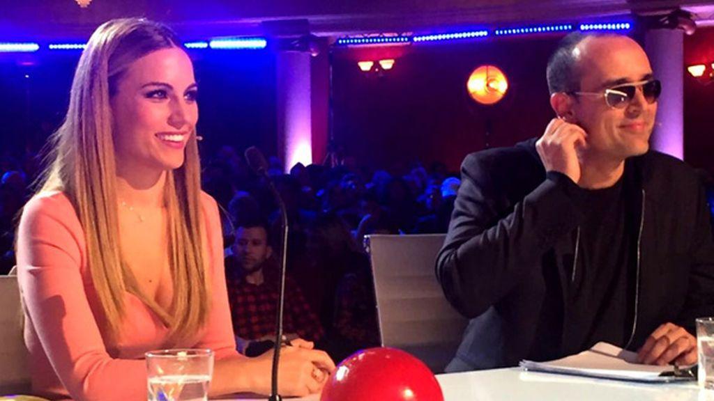 Primera foto de Edurne y Risto Mejide en Got Talent 2