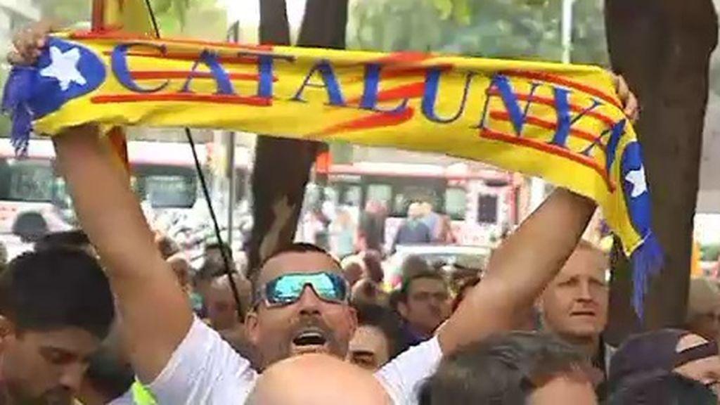 Tercer día de protestas independentistas clamando por la libertad de los detenidos