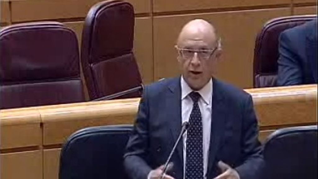 Cristobal Montoro, ministro de Hacienda, comparecencia Senado (30-09-2014)