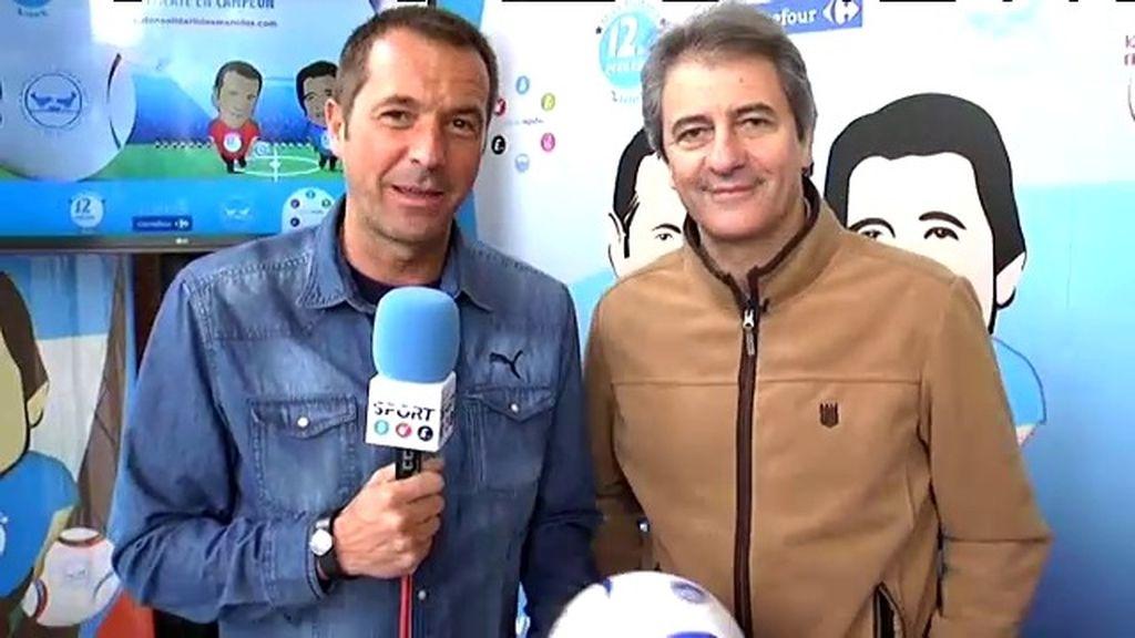 """Carreño y Lama presentan el Balón """"para que ningún niño se quede sin merienda"""""""