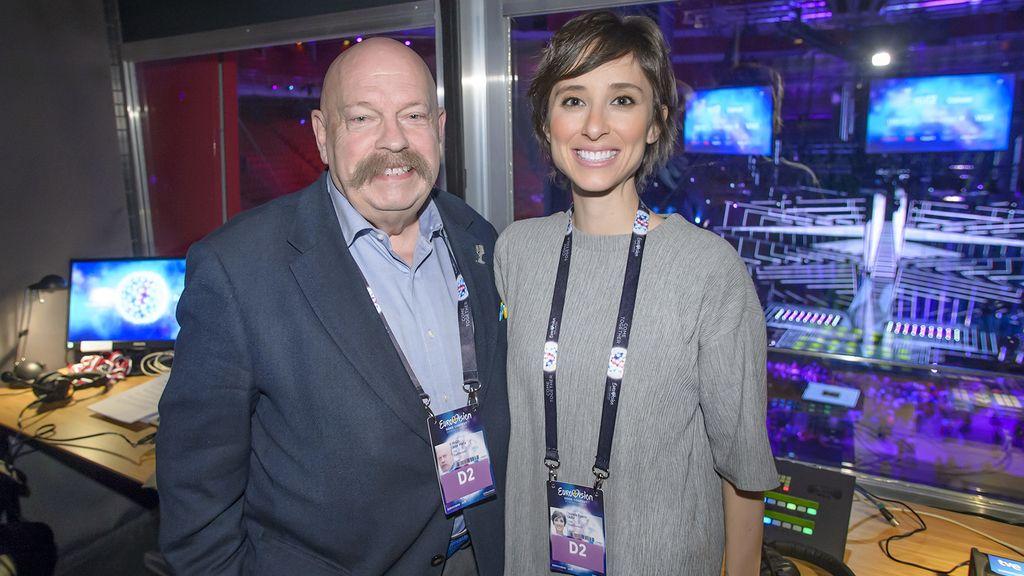José María Íñigo y Julia Varela, presentadores de TVE en Eurovisión 2017