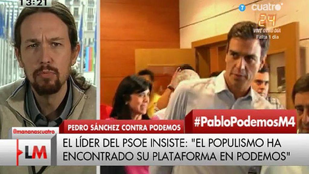 Pablo Iglesias en Las mañanas de Cuatro
