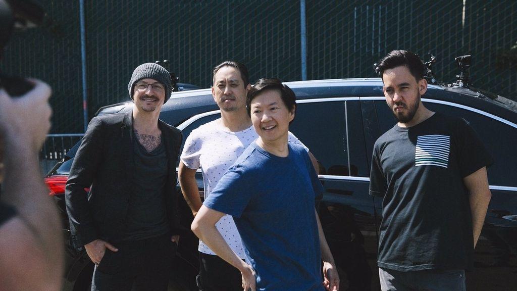El grupo Linkin Park, durante la grabación de 'Carpool karaoke'