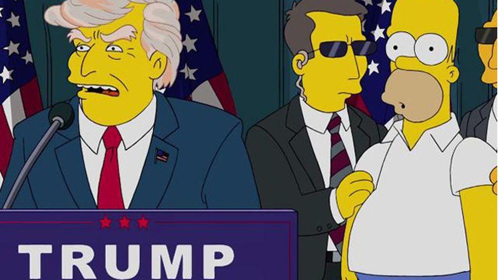 'Los Simpson' también critican a Donald Trump